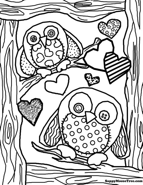 Adult Owl Coloring Page GetColoringPages com