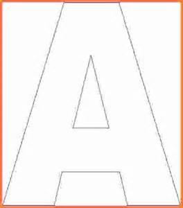 Block Letter Alphabet Template