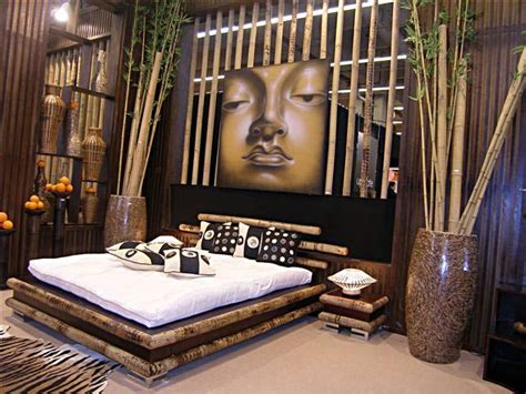 chambre bambou lit bambou wengé meidji 5490
