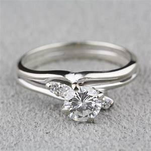 pre owned diamond engagement ring with 14 karat white gold With previously owned wedding rings