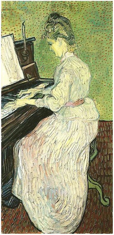 marguerite gachet   piano  vincent van gogh
