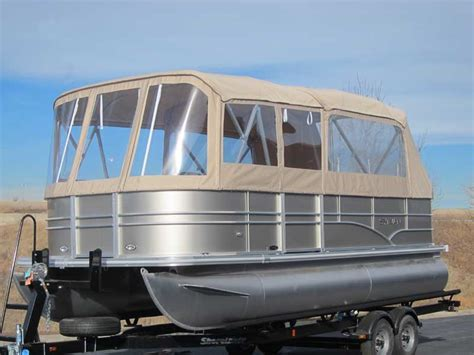 pontoon boat with cabin pontoon boat enclosures and covers paul s custom canvas