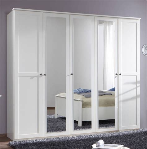 Large White Wardrobe Closet by German Chalet Shaker Style White Large 5 Door Mirror