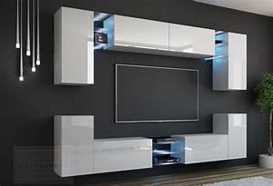 Tv Wand Modern : kaufexpert wohnwand galaxy wei hochglanz mediawand ~ Michelbontemps.com Haus und Dekorationen