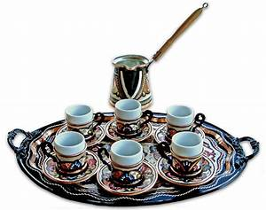 Set - 6 Cups - Oval tray from Turkish Coffee World in