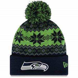Seattle Seahawks New Era Snowburst Knit Beanie – College