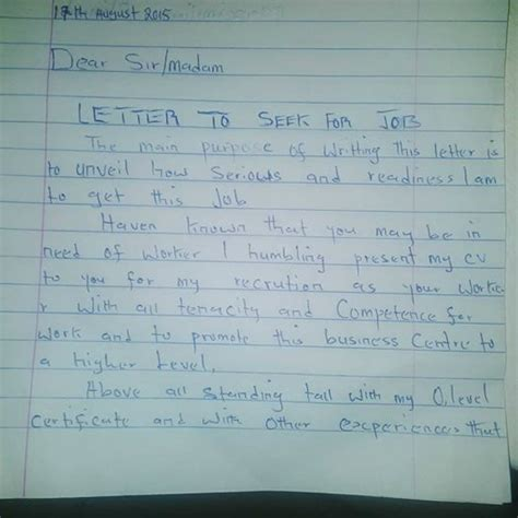 letter of application in nigeria how to write a standard application letter