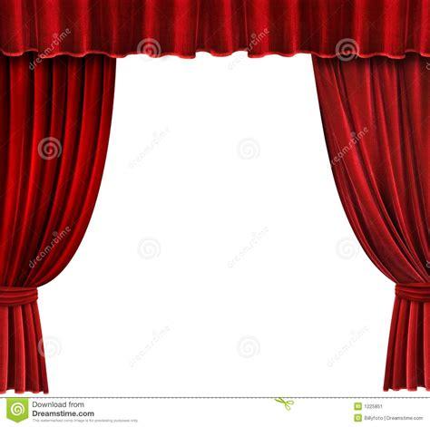 rideaux rouges en th 233 226 tre de velours image stock image 1225851