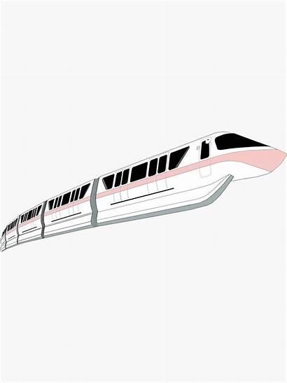 Sticker Redbubble Disney Train Monorail Millennial Stickers