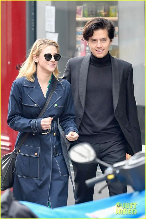 cole sprouse lili reinhart paris riverdale kissing cast spotted hands hold casey cott go sightseeing while sprousehart sightsee stars france