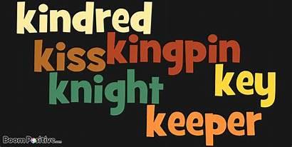 Positive Start Nouns Words Letter