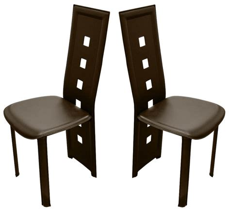 petit bureau design pas cher 4 chaises design calzone pvc haute qualite marron chaise