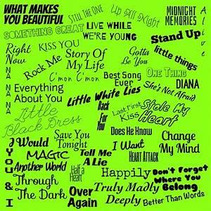 My One Direction Lyrics Wallpaper I Made
