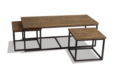 table bois et metal table basse gigogne bois et metal le bois chez vous