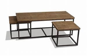 Table Basse Jardin Metal : table basse gigogne bois et metal le bois chez vous ~ Teatrodelosmanantiales.com Idées de Décoration
