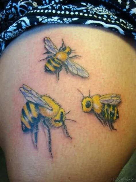 fabulous bee tattoos  thigh