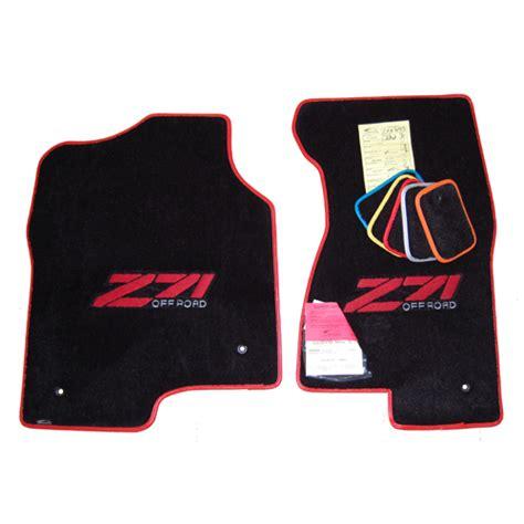 floor mats for z71 chevrolet silverado z71 black floor mats