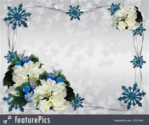 templates christmas border poinsettias elegant stock