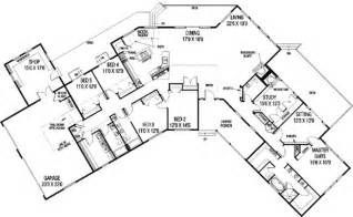 ranch style floor plans ranch style house plan 5 beds 3 5 baths 3821 sq ft plan 60 480