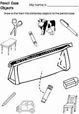 Pencil Coloring Case Template Worksheets Getdrawings Sketch sketch template
