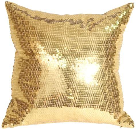 gold throw pillow gold sequins accent pillow from pillow decor