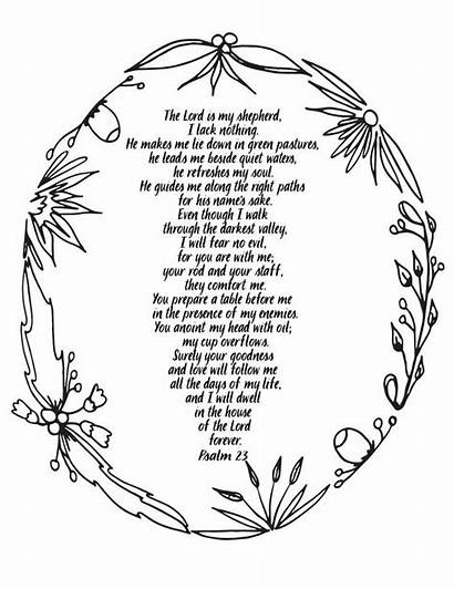 Coloring Psalm Printable Psalms Adult Christian Bible