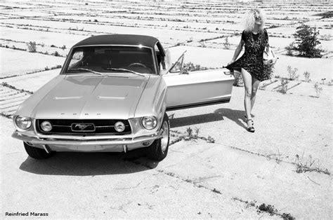 Black White Car Art Photography Mustang