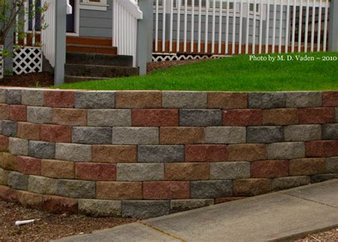 landscaping block ideas retaining wall with multi color block do you like this garden landscape block wall
