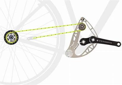 String Bike Chain Works Animation Bikes Drive