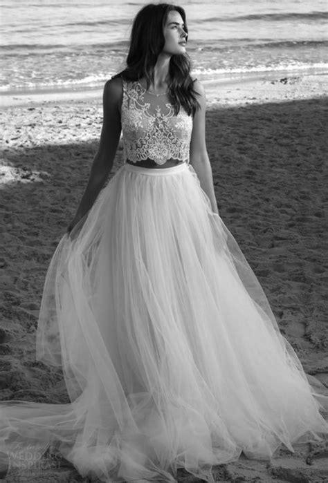 stylish  piece summer beach wedding dresses