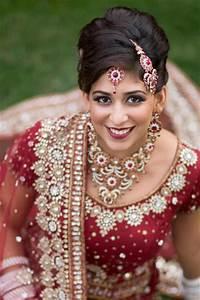 Ravishing Red Indian Bridal Makeup by Kim Basran - Hair ...