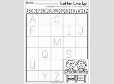 Kindergarten Letter Recognition Worksheets for all