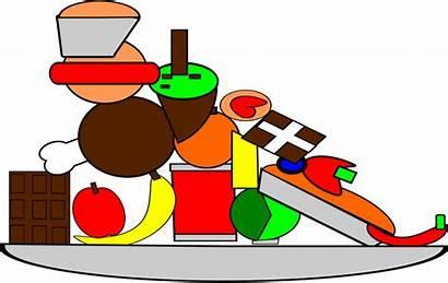 Clipart Junk Plate Foods Perishable Non Clip