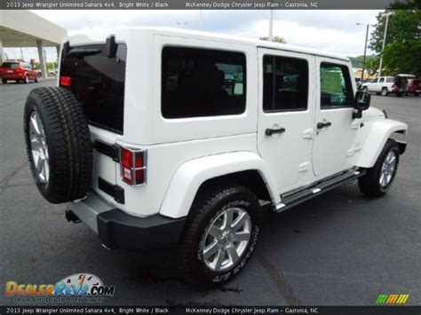 white and black jeep wrangler 2013 jeep wrangler unlimited sahara 4x4 bright white