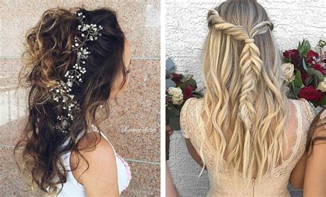 Bridesmaid Hairstyles For Hair Half Up by 31 Half Up Half Hairstyles For Bridesmaids Stayglam