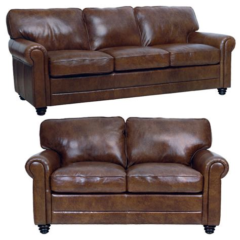 Leather Sofa And Loveseat Sets by New Luke Leather Italian Brown 2 Set 1 Sofa