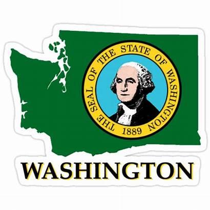 Washington State Flag Redbubble Sticker Stickers Portfolio