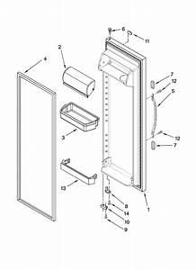 Refrigerator Door Parts Diagram  U0026 Parts List For Model 10658943801 Kenmore