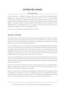La Peste Resume Par Chapitre by La Nuit Du Renard Higgins Clark Fiches De Lecture