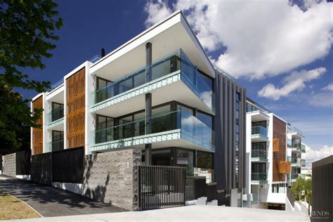 Apartment Living Auckland high end auckland apartment with decorative privacy screens