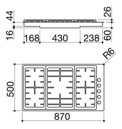 dimensioni piano cottura 5 fuochi dimensioni piano cottura 5 fuochi piano cottura