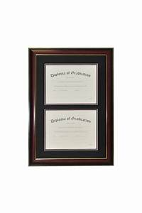double document diploma frame university graduation world With dual document frame