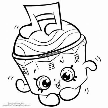 Shopkins Coloring Pages Cupcake Season Shopkin Cappella