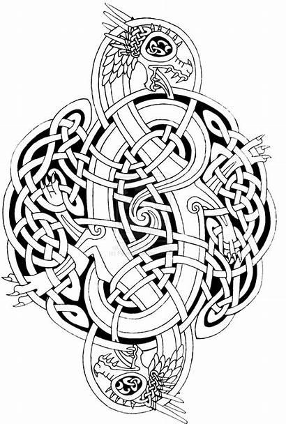 Coloring Celtic Pages Mandala Dragon Adults Adult
