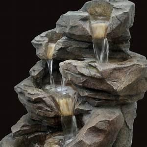 Fontaine D Exterieur En Pierre : fournisseur grossiste fontaine jardin xl cascade pierre ~ Premium-room.com Idées de Décoration