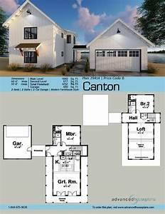 1, 5, Story, Modern, Farmhouse, House, Plan