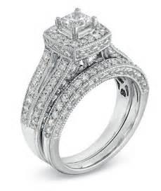 gold wedding ring sets antique princess 2 carat wedding ring set for in white gold jewelocean