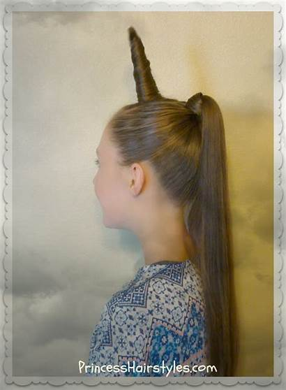 Unicorn Hairstyle Crazy Hair Halloween Diy Hairstyles