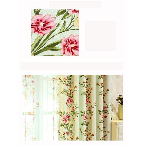shabby chic curtains green sage green floral print polyester beautiful shabby chic curtains