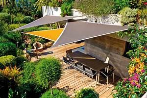 Toile Tendue Jardin : l 39 ombre sur la terrasse pergola parasol et toiles ~ Melissatoandfro.com Idées de Décoration